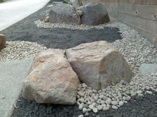 Boulder planters