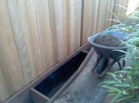 Fence Planter for bamboo